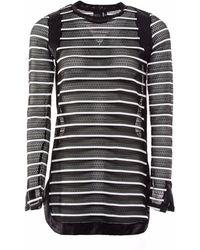 OKAYLA - Striped Mesh Tunic - Lyst