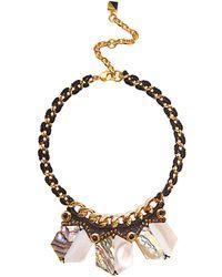 Nocturne Shun Shell Collar Necklace - Metallic