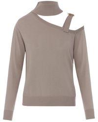 Nissa - Gray Turtleneck Sweater - Lyst