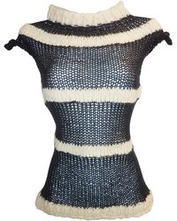 Claire Andrew - Stripe Knit Top With Cap Sleeve - Lyst
