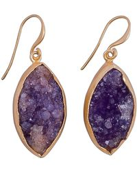 Magpie Rose Purple Raw Druzy Earrings
