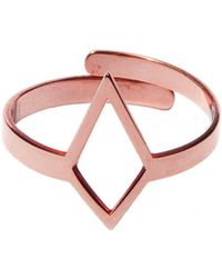 Dutch Basics - Ruit Adjustable Knuckle Ring Small Rose Gold - Lyst