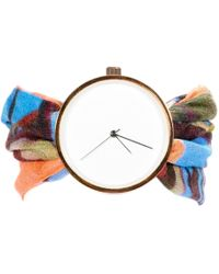 May28th - 05:40pm Colourful Silk Watch - Lyst
