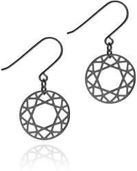 Myia Bonner - Black Brilliant Diamond Drop Earrings - Lyst