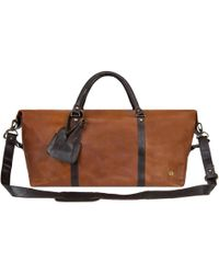 14b86063e9eb MAHI - Leather Long Armada Duffle Large Weekend overnight Holdall Bag In  Vintage Brown With