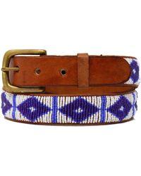 Aspiga Triangle Belt White/masai Blue