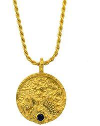 Annabelle Lucilla Jewellery Oceanesque Coin Rope Chain Pendant - Metallic