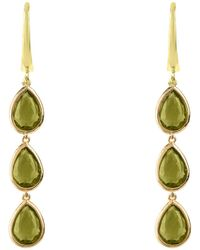 LÁTELITA London - Sorrento Triple Drop Earring Gold Peridot - Lyst