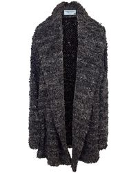 Haris Cotton Wool Blend Oversized Cardigan Anthracite - Grey