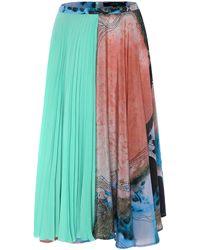 Judy Wu - Silk Printed Pleats Skirt - Lyst