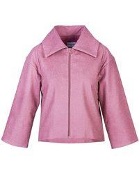 Acephala Short Jacket - Purple
