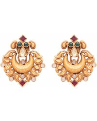 Carousel Jewels - Antique Finish Crystal Earrings - Lyst