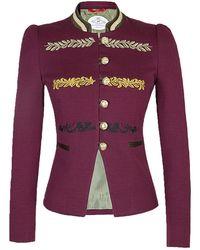 The Extreme Collection Burgundy Renata Princess Blazer - Red