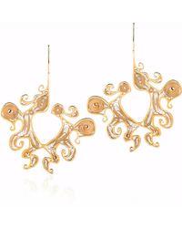 Nooneh London - Maya Statement Earrings Gold - Lyst