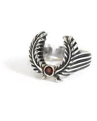 Frederick Grove Laurel Ruby Ring - Metallic