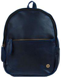 MAHI Mini Backpack In Navy Full Grain Leather - Blue