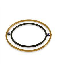 Cara Tonkin - Orbit Rotate Bangle Gold - Lyst