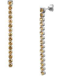 Tsai x Tsai Sterling Silver Beitou Citrine Earrings - Metallic