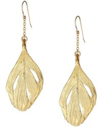 Chupi | Maxi Swan Feather Earrings Gold | Lyst
