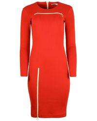 blonde gone rogue Wicked Zipper Dress In Red
