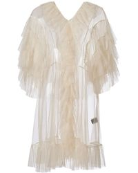 Supersweet x Moumi Tulle Babydoll In Ecru - White