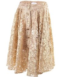 A - M M - E - Riding Skirt In Gold Lace - Lyst