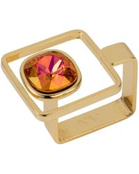 Nadia Minkoff - Square Frame Ring Gold Magma - Lyst