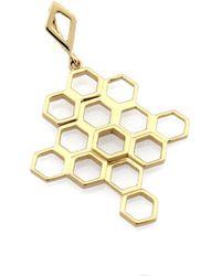 Monarc Jewellery | The Vita Hive Necklace 9ct Gold | Lyst