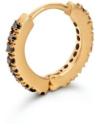 Cristina Cipolli Jewellery Snaketric Huggies Gold With Black Diamonds - Metallic