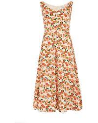 Emily and Fin Margot Mini Summer Oranges Dress