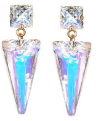 Nadia Minkoff Crystal Shard Earring Aurora Borealis - Metallic