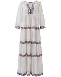 ADA KAMARA Maxi Lace Dress - White