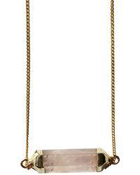 Tiana Jewel Rebalance Rose Quartz Gemstone Necklace - Pink