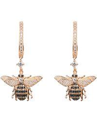 LÁTELITA London Honey Bee Drop Earring Rosegold - Multicolour