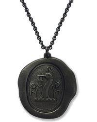 Serge Denimes | Gun Metal Padlock Pendant Necklace | Lyst