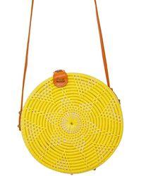 Soi 55 Lifestyle Cantik Round Bali Bag / Lemon - Yellow