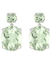 Augustine Jewels Green Amethyst Drop Earrings