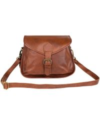 MAHI - Classic Saddle Bag In Vintage Brown Leather - Lyst