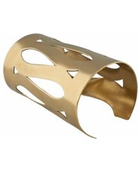 MARINA SKIA Art Deco Fluidity Gladiator Cuff - Metallic