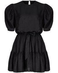 SELEZZA LONDON Viscose Mini Dress - Black