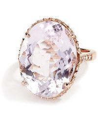 Kaizarin Morganite Cocktail Ring - Multicolour