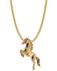 Mirabelle Large Leaping Horse Charm Pendant - Metallic