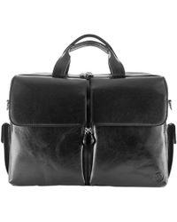 Maxwell Scott Bags | Luxury Italian Leather Men's Business Bags Lagaro Night Black | Lyst