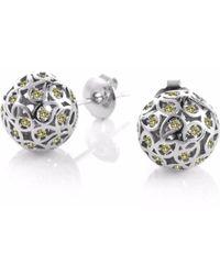 Sonal Bhaskaran - Svar Silver Stud Earrings Yellow Cz - Lyst