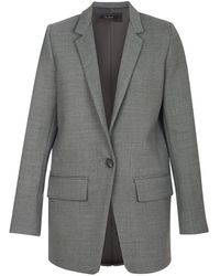 Flow Oversized Blazer In Grey - Gray