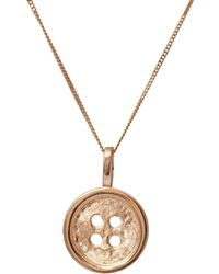 Edge Only - Gold Button Pendant - Lyst