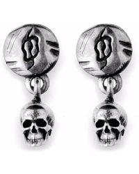 Platadepalo - Small Silver Skull Earrings - Lyst