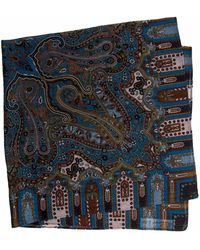 40 Colori Blue Vintage Paisley Printed Wool Bandana