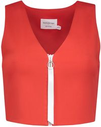 blonde gone rogue - Desire Crop Top In Tomato Red - Lyst