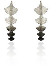 Cara Tonkin - Siren Scale Drop Earrings Silver - Lyst